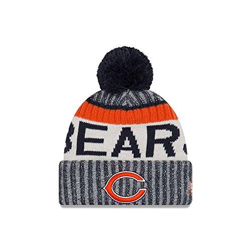(New Era Chicago Bears Knit Beanie Cap Hat NFL 2017 On Field Sideline 11460404)