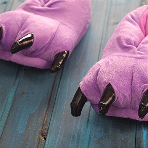 Violet Pantoufles Slipper Animal Griffes Souple Shoes Hommes Peluche En Hiver Yuwell Et Chaussure Femmes 5qwSO8TTx
