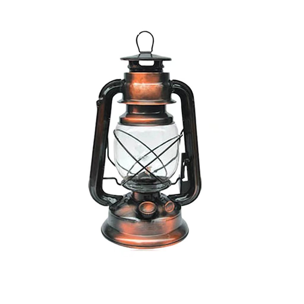 Classic Nostalgic Kerosene Lamp Portable Horse Lamp Retro Portable Light Camp Lights Bronze