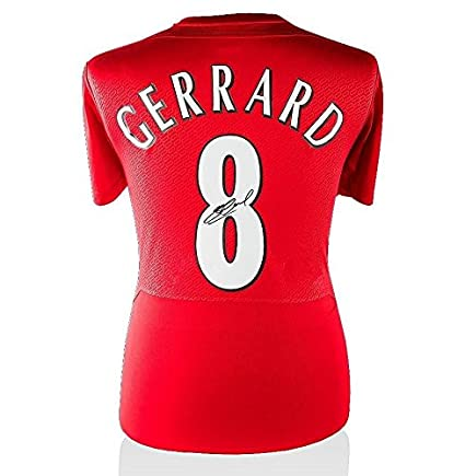 new product 9598c e116a Steven Gerrard Signed Liverpool Shirt - Istanbul 2005 ...