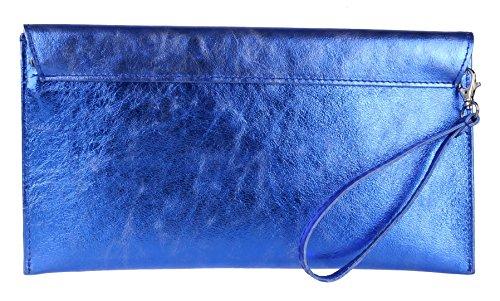 Para Rebecca Mujer De Metálica Bolsos Azul Femeninos Real Embrague 5HtWwq