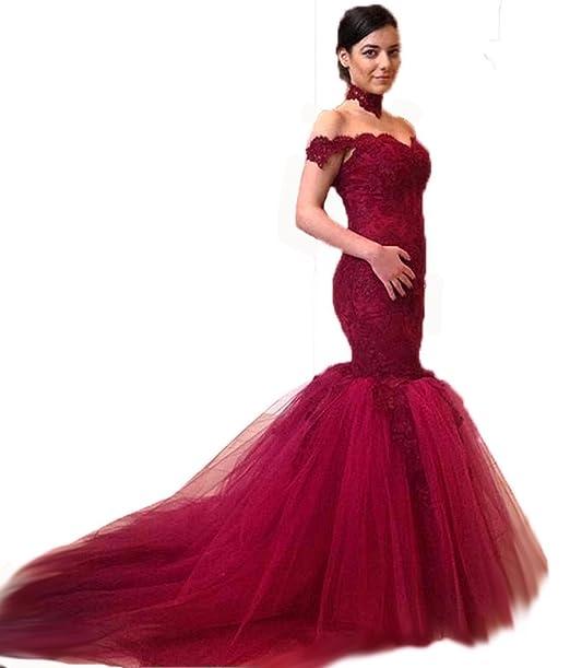 Bridal_Mall - Vestido de novia - Sin mangas - Mujer Rojo granate 44
