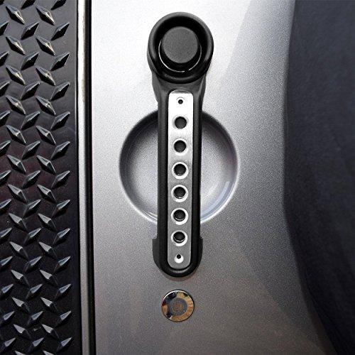 Allinoneparts Front Red Aluminum Grab Handle for Jeep Wrangler JK 2007-2017