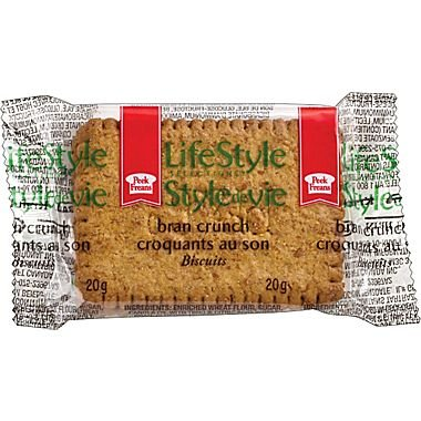 Peek Freans Lifestyle Bran Crunch Cookies 2 kg/4.40 Pounds 100 x 2/Pack {Imported from Canada}