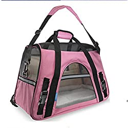 Raleighsee Airline Approved Pet Backpack Carrying Case Teddy Outdoor Pet Carriers Portable Pet Bag (PK)