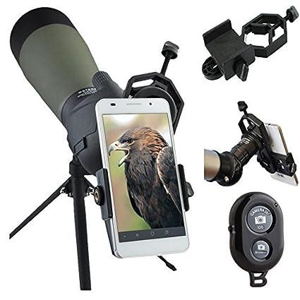 reputable site 6c9a2 c40b4 AccessoryBasics Binocular Spotting Scope Telescope Microscope periscope  adapter Mount for iPhone X XR XS MAX 8 7 Plus Galaxy S9 S10 Note LG Pixel  ...