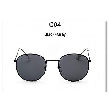 CCGKWW Gafas De Sol Redondas Mujeres Diseñador De La Marca ...