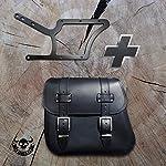 Zeus-Black-XL-Holder-XL-Softail-up-to-2017-from-Orletanos-Compatible-with-Side-Pocket-Pannier-Bag-Side-Case-Harley-Davidson-Fatboy-Heritage-Rigid-Frame-Bracket-Saddle-Bag-Hanger