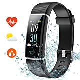 REDGO Activity Tracker, IP68 Waterproof Fitness Tracker Watch with Heart Rate Pedometer Calories and Sleep Monitor, Step Counter Wristband for Women Men