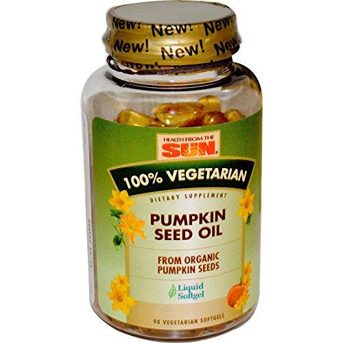 Sun Pumpkin Seed Oil - Health From The Sun, 100% Vegetarian Pumpkin Seed Oil, 90 Veggie Softgels - 3PC