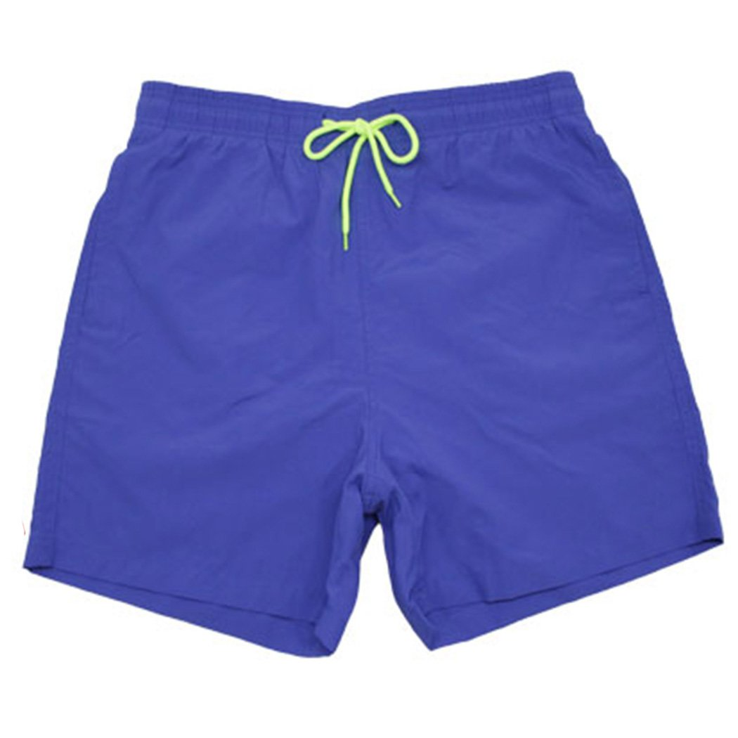 Sun Lorence Men's Solid Quick Dry Beach Shorts Mesh Lining Swim Trunks with Pockets Darkblue XL