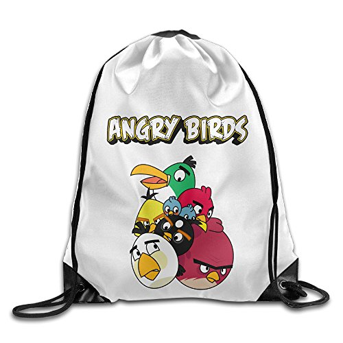 Bekey Angry Birds Gym Drawstring Backpack Bags For Men & Women For Home Travel Storage Use Gym Traveling Shopping Sport Yoga Running
