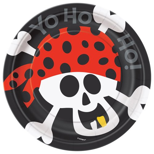 Pirate Party Dessert Plates 8ct
