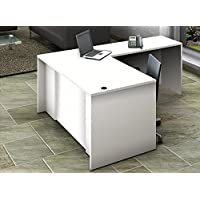 OfisLite Desk Model 2102 Complete Group, White/White, 2 Piece