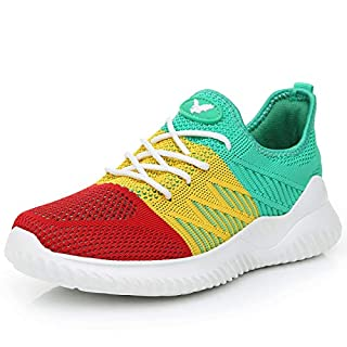 Womens Memory Foam Walking Shoes Lightweight Fashion Sports Gym Jogging Slip on Tennis Running Sneakers Multicolor 6 B(M) US
