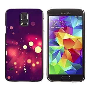 // PHONE CASE GIFT // Duro Estuche protector PC Cáscara Plástico Carcasa Funda Hard Protective Case for Samsung Galaxy S5 / Spots Bokeh púrpura /