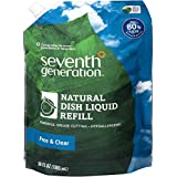 Seventh Generation Natural Dish Soap Refill, Free and Clear, 36 Ounce