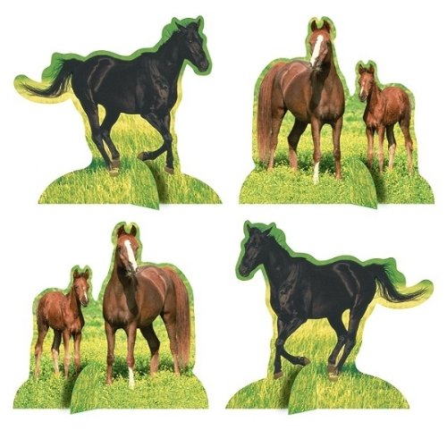 Hallmark Horses Centerpieces-4 Pack