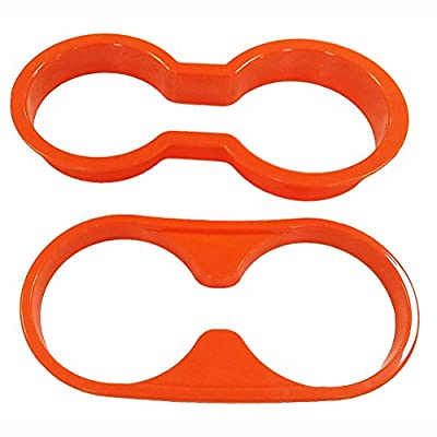 E-cowlboy Inner Front and Rear Water Cup Holder Trim,Gear Box Trim and Transfer Case Trim 4 Pcs for Jeep Wrangler JK & Unlimited 2/4 Door 2011-2020 (Orange): Automotive