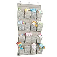 mDesign Chevron Fabric Baby Nursery Closet Organizer for Diapers, Pacifiers, ...