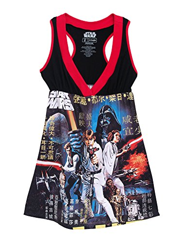 [Star Wars Episode IV A New Hope Poster Mighty Fine Juniors Costume Skater Dress] (Wookie Costumes)