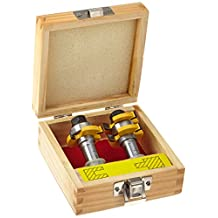 Yonico 15228 15228 Tongue and Groove Router Bit Set 1/4-Inch X 1/4-Inch 1/2-Inch Shank,,
