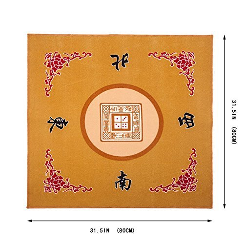Universal Mahjong Mahjong Mahjong / Paigow / Card / Game Table Cover - Gelb Mat 31.5 x 31.5 (80cm x 80cm) by THY COLLECTIBLES afeb1d