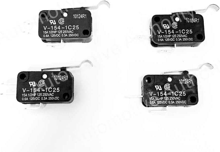 Automotive Authority 4 Pack MICRO SWITCH 2 & 3 Prong 1014807 1014808 For Club Car Golf Cart DS & Precedent