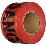 "Comfitwear PT-200 Red Danger Barricade Tape, 3"" X 1000'"