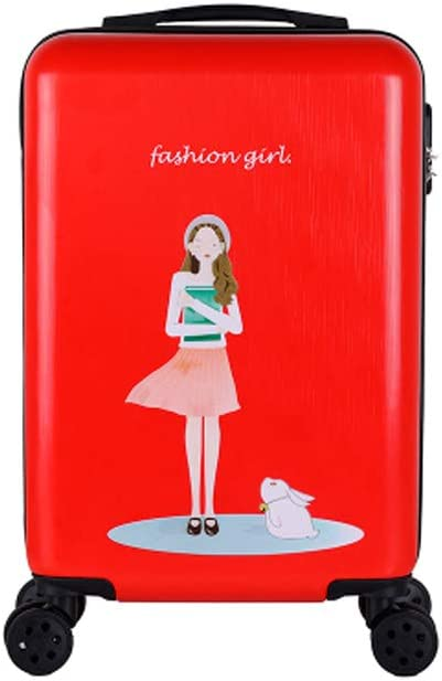 Rotating Suitcase Hard Case 20//22//24//26 Inches Haoyushangmao Carry Suitcase Simple Simple and Black The Latest Style Color : Red-1, Size : 20