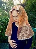 Catholic Veil Gold Copper Lace