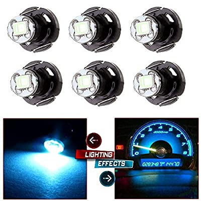 cciyu 6 Pack T4/T4.2 Neo Wedge LED Bulb A/C Climate Control Lights (ice blue): Automotive