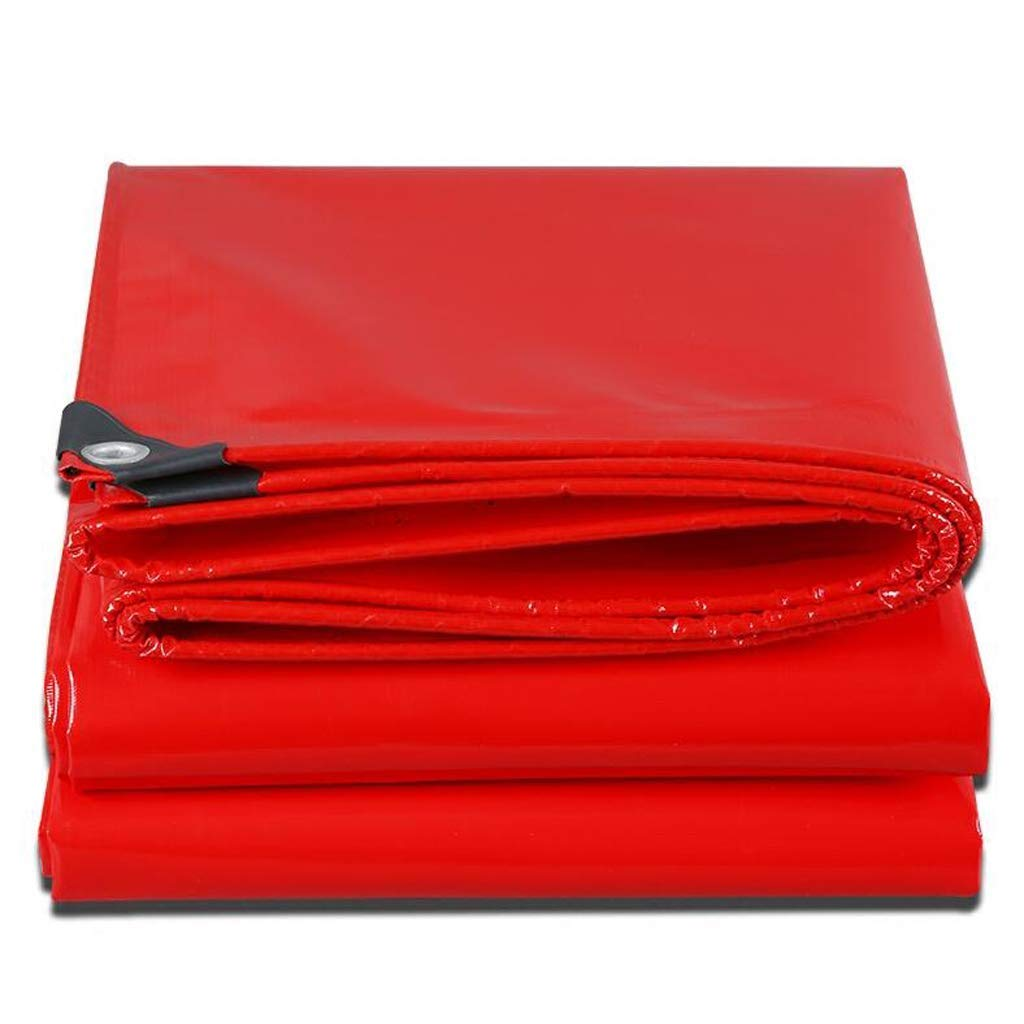 Thick and Practical Waterproof Cloth Red Padding Waterproofing Waterproofing Waterproof Waterproofing Tarps Waxing Awning (Size : 2 3m) (Size : 46m) by ASpb