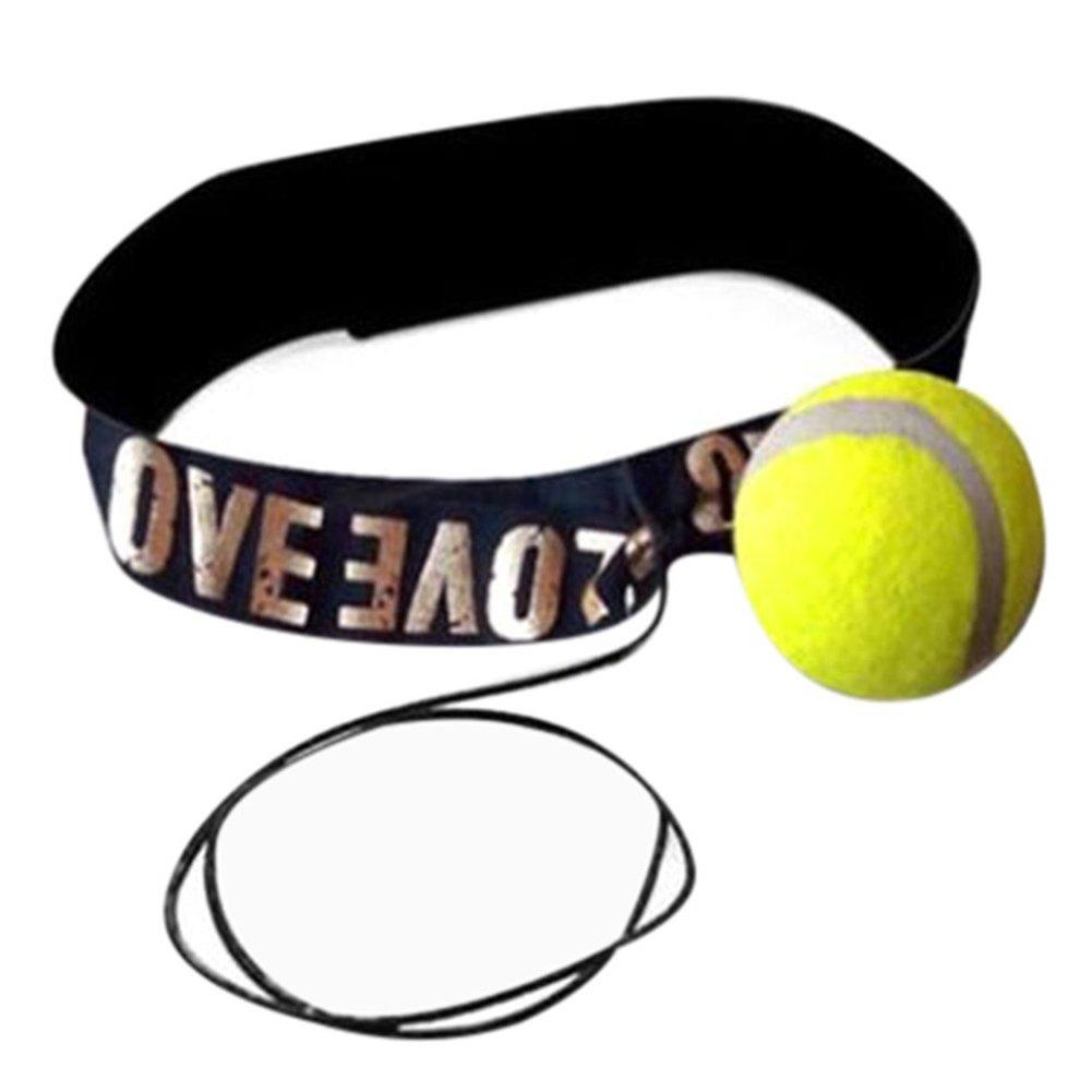 Yeshi - Pelota de entrenamiento de boxeo deportivo con cinta para la cabeza, para practicar la velocidad y reflejos para golpe en saco de boxeo, amarillo
