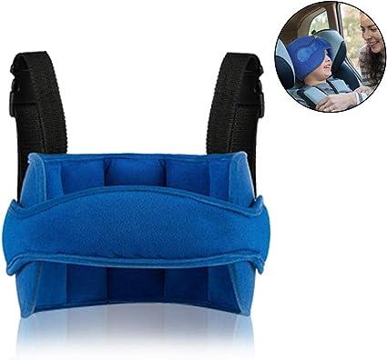coffre-fort de voiture et positionneur de sommeil confortable MINGZE Support de t/ête de si/ège de voiture denfant de b/éb/é ceinture de fixation r/églable de Seat de s/écurit/é Bleu