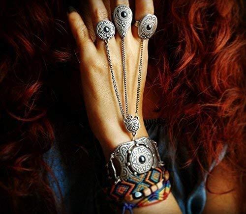 Ring chain bracelet in oriental ethnic style statement slave bracelet tribal bracelet FREE SHIPPING luxurious bohemian ()