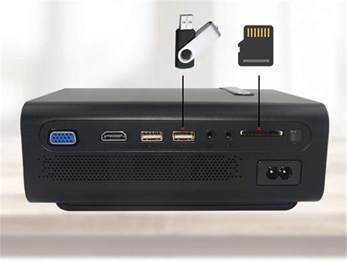 Mini Proyector LED 1200Lumen 1080P Proyector de Vídeo Beamer HD ...