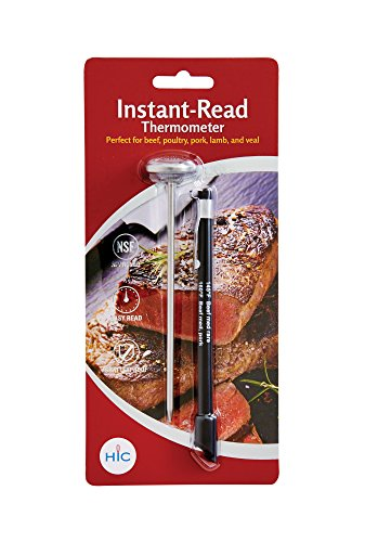 HIC Instant-Read Meat Thermometer 29000, Shatterproof Face,
