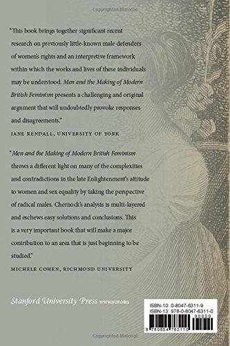 men and the making of modern british feminism chernock arianne