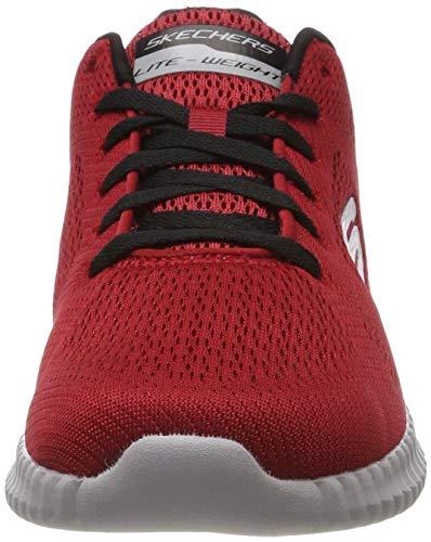Para Skechers Black Rdbk Leaf red Rojo Zapatillas Flex Hombre Elite clear UqqnHFWSa