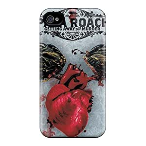High Quality Mobile Cases For Iphone 4/4s With Support Your Personal Customized Stylish Papa Roach Pattern IanJoeyPatricia