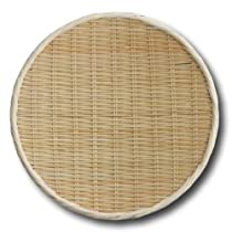 Bamboo round draining basket 14.2in. by NICHI-NICHI DOGU