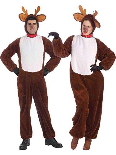 Forum Novelties Men's Plush Reindeer Costume, Brown,