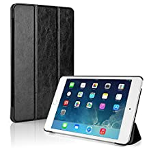 TNP iPad Mini 4 Case (Black) - Ultra Slim Lightweight Folio Smart Cover Stand with Auto Sleep Wake Feature and Hard Rubberized Back for Apple iPad Mini 4 7.9 Inch Tablet 2015 Release