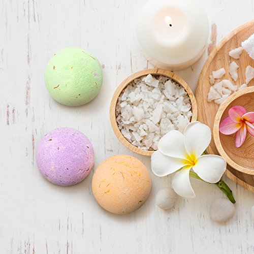 Anjou Bath Bombs Gift Set 6 x 40 oz Vegan Natural Essential Oils amp Dry Flowers lush Fizzy Spa Moisturizes Dry Skin Bubble Baths Perfect Gift Kit Ideas for Girlfriends Women Moms