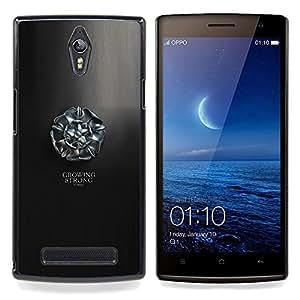 """Qstar Arte & diseño plástico duro Fundas Cover Cubre Hard Case Cover para OPPO Find 7 X9077 X9007 (Creciendo Stron Tyrell"""")"""