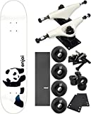 Enjoi Skateboards Whitey Panda Skateboard 7.75'' x 31.5'' Complete Skateboard - Bundle of 7 items