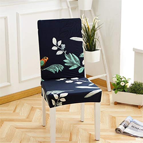 BERTERI Printed Spandex Stretch Dining Chair Cover 2pcs Dustproof Chair Slipcovers for Weddings Banquet Home Dining Room Decoration