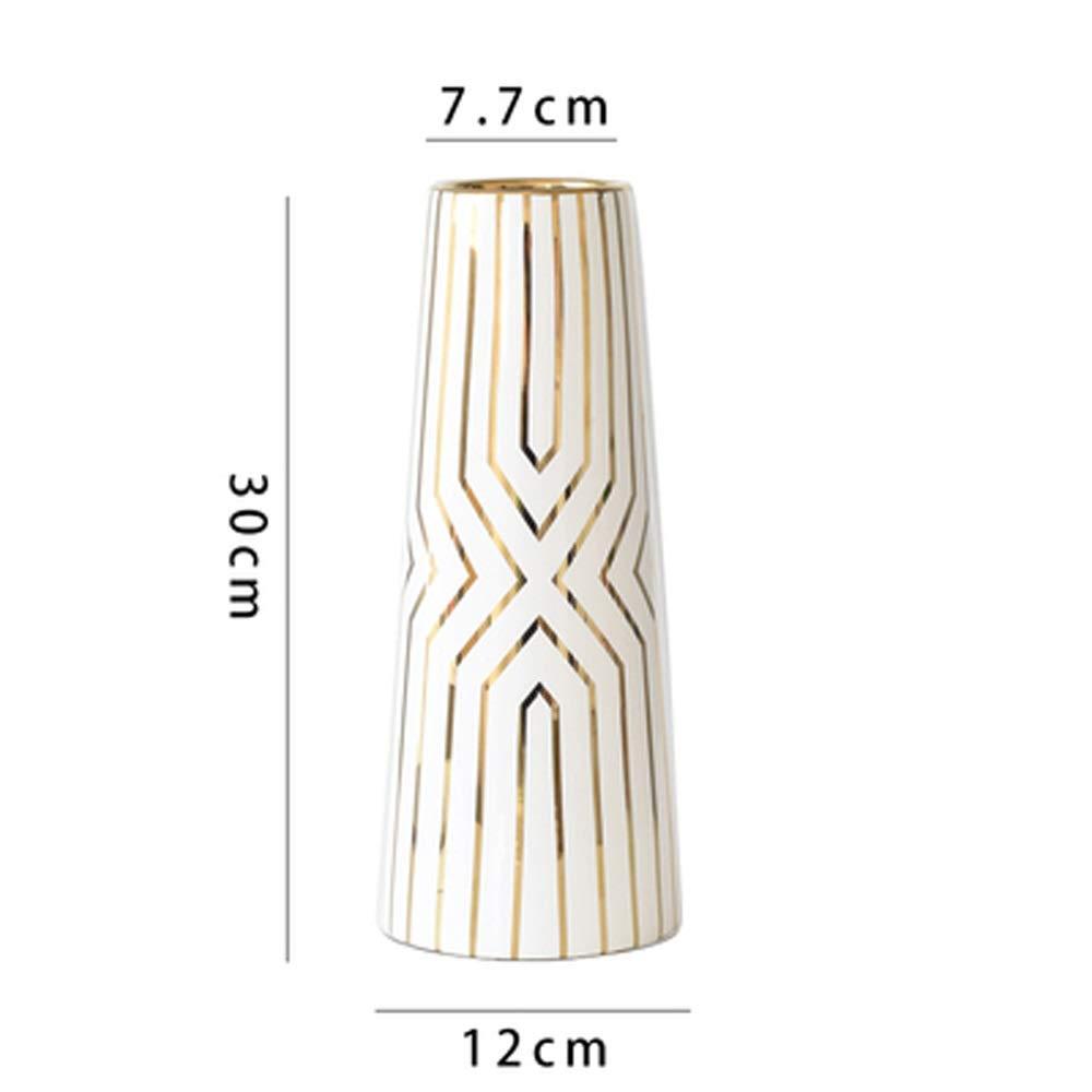 ヨーロッパスタイルのセラミック花瓶用花グリーン植物結婚式の植木鉢装飾ホームオフィスデスク花瓶花バスケットフロア花瓶 (形状 けいじょう : C) B07RK2MFTC  C