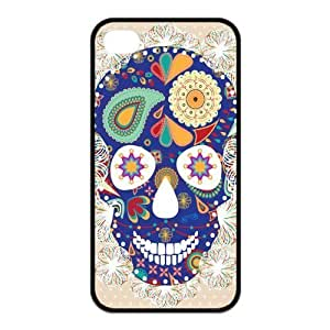 USTYLE 's Custom Design Hard Silicone Cover Case for iPhone 4 4s Day of the Dead Sugar Skull